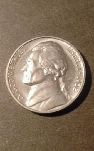 1962 Jefferson Nickel Uncirculated.  L43 photo