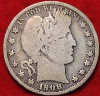 1908 - O Orleans Silver Barber Half Dollar photo