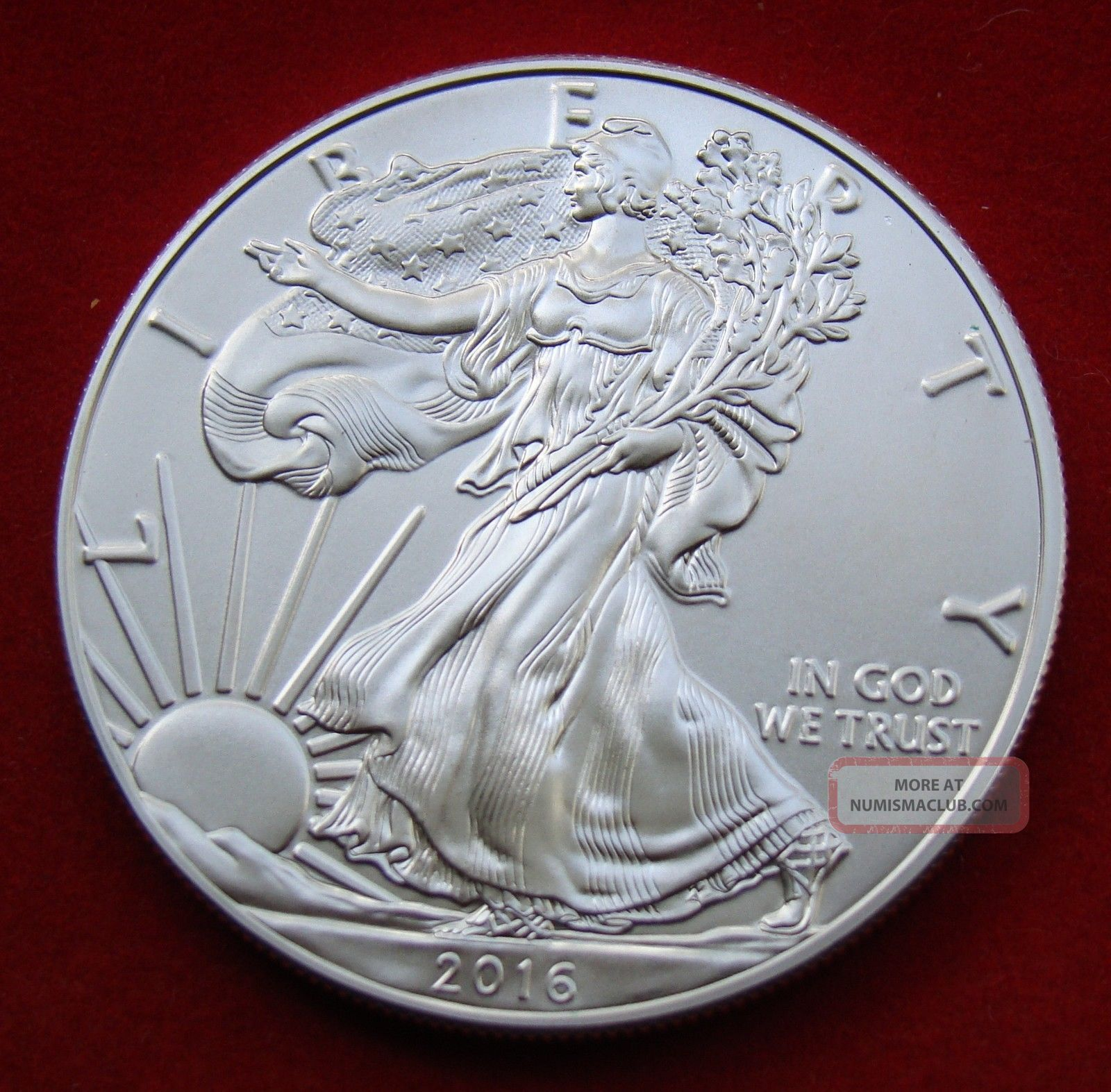 2016 Silver Dollar Coin 1 Troy Oz American Eagle St