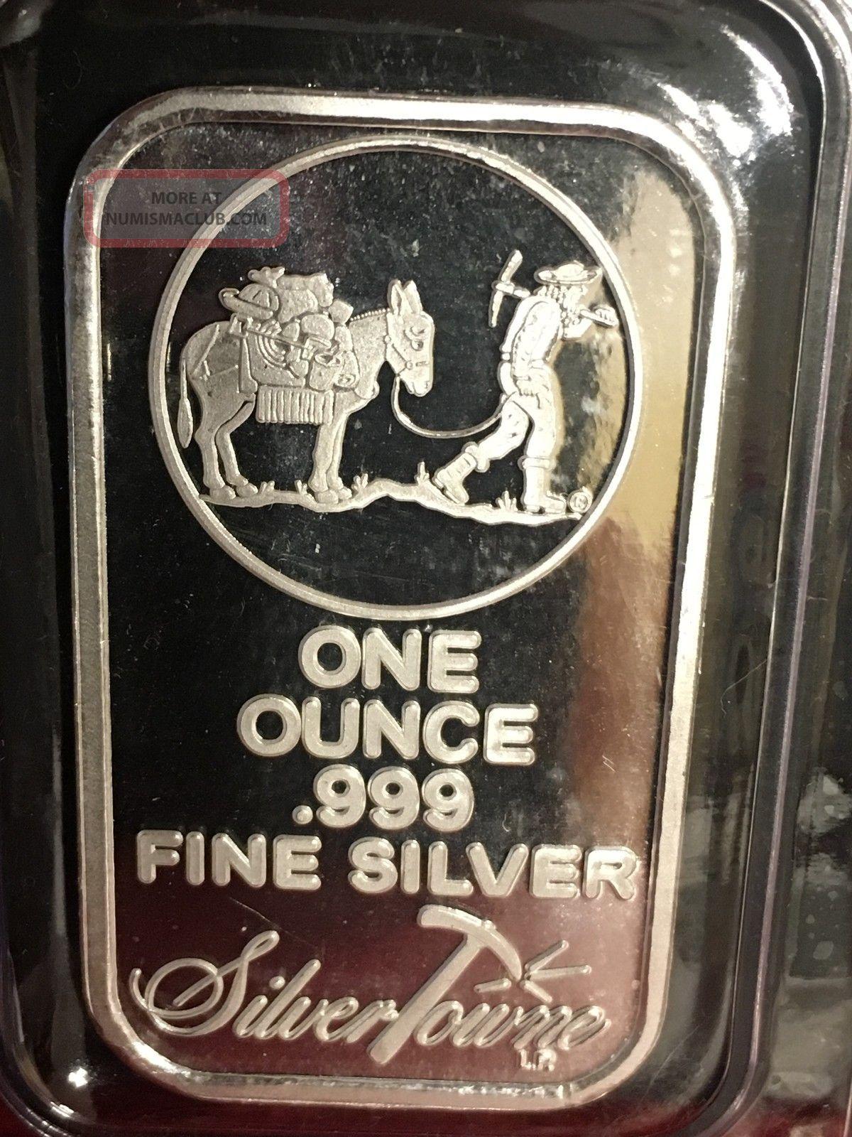 1 Oz Silvertowne Silver Bar 999 Fine