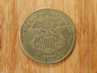 1856 York City Hall Bronze Medal In Unitate Fortitudo So - Called Dollar Token photo