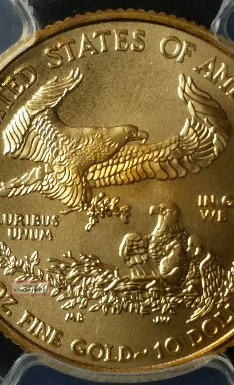 2013 10 Gold Eagle Pcgs First Strike Ms70