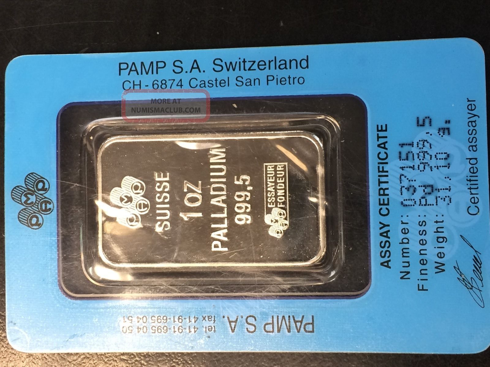 pamp suisse essayeur fondeur 1 oz credit suisse palladium bar is there are no more esteemed names in the palladium market than credit suisse and pamp credit suisse palladium bars are and the number 9995 printed below, as well as a small logo featuring the words essayeur fondeur category: palladium tags: credit.