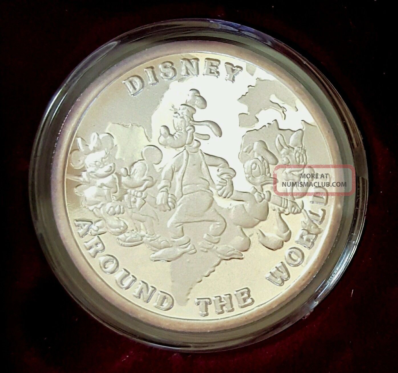 Disney Around The World 1 Oz Silver Coin 1988 Mickey