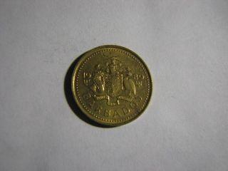 1989 Barbados - 5 Cents Circulated Coin photo