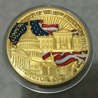 1 Oz Barack Obama 56th Us President Finished In 24k Gold Coloured Clad Coin photo