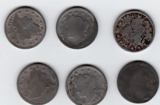 Group Of 6 Liberty Nickels photo