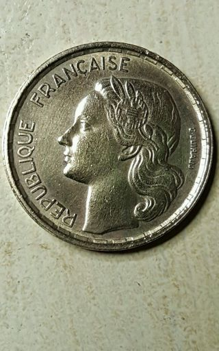1957 France French 10 Francs Coin photo