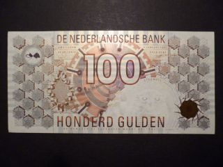 Netherlands 100 Guilder 1992 Perfect Unc Collectible photo