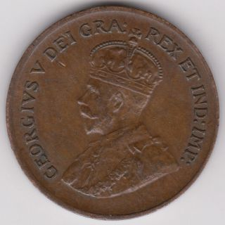Canada - 1928 One Cent Km 28 Au,  Brown Abt.  Uncirculated,  George V Small 1 Cent photo
