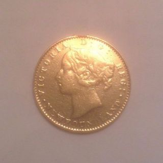 1865 Newfoundland Canada Gold 2 Dollar Coin - Only 10,  000 Minted photo