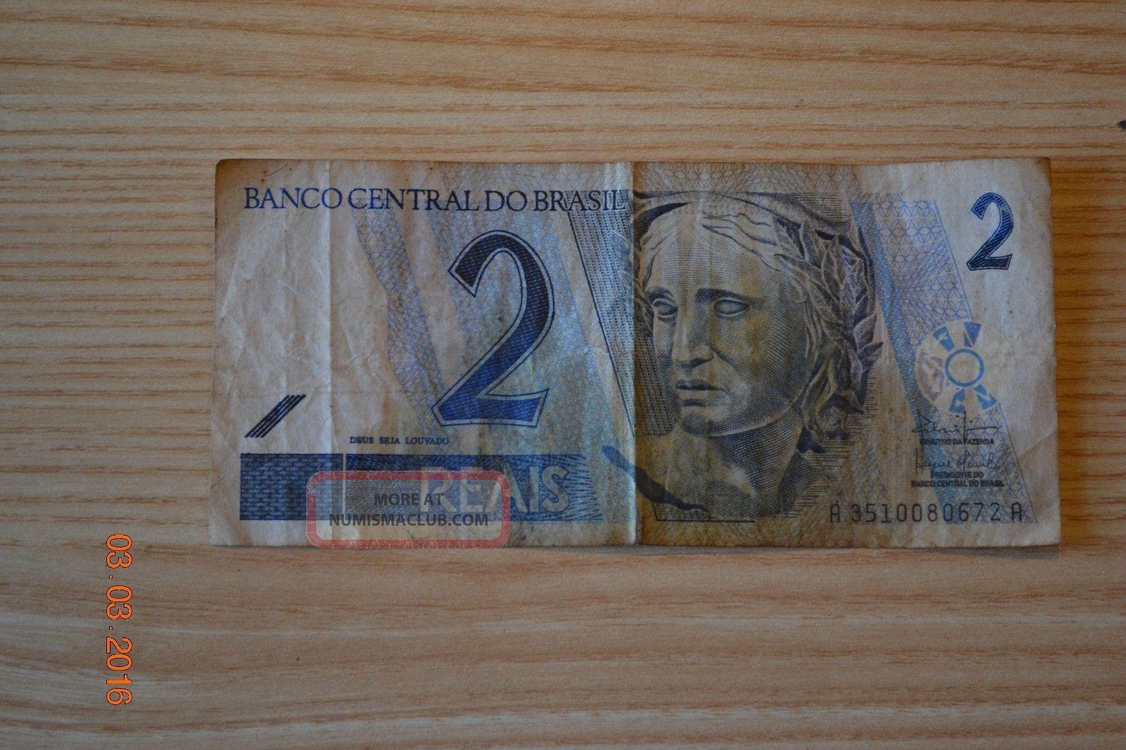 Banco Central Do Brasil (2) Dois Two Reais