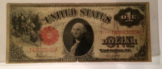 1917 $1 Note Fr.  39 Legal Tender Pcgs Vg 10 Horse Blanket photo
