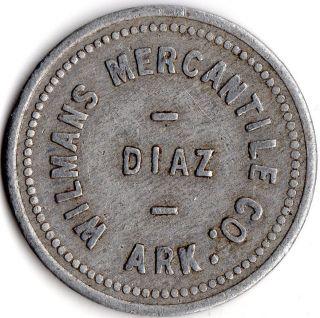 Diaz Arkansas Wilman ' S Mercantile Company Merchant Good For Trade Token photo