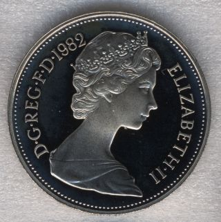 Great Britain 10 Pence 1982 Lion Passant Queen Elizabeth Ii Proof photo