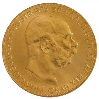 Austrian 100 Corona Gold Coin photo