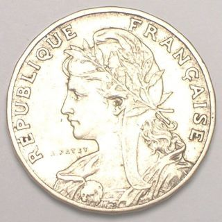 1905 France French 25 Centimes Ceres Fasces Coin Vf photo