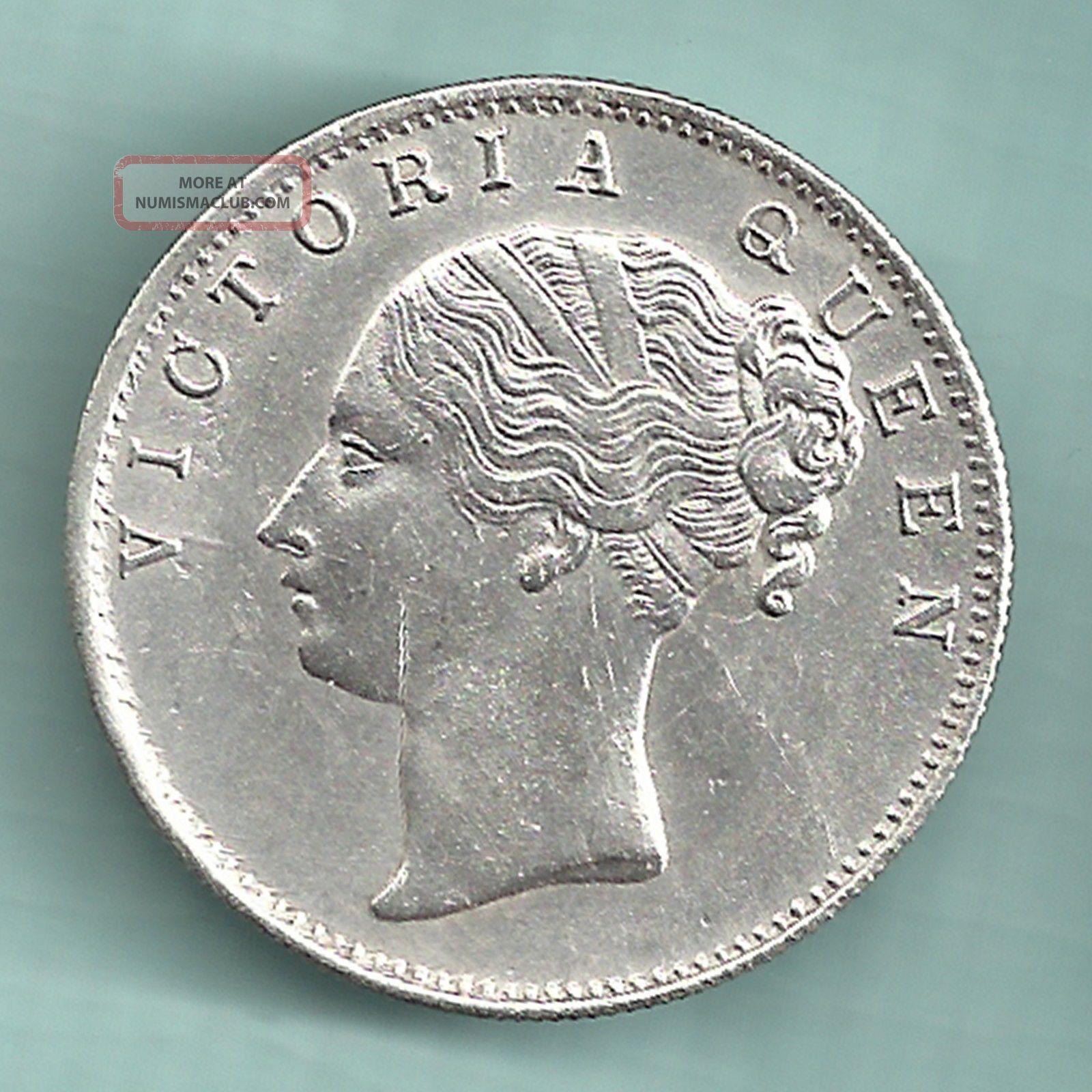 British India - 1840 - Victoria Queen - One Rupee - Continuos Legend - Rarest British photo