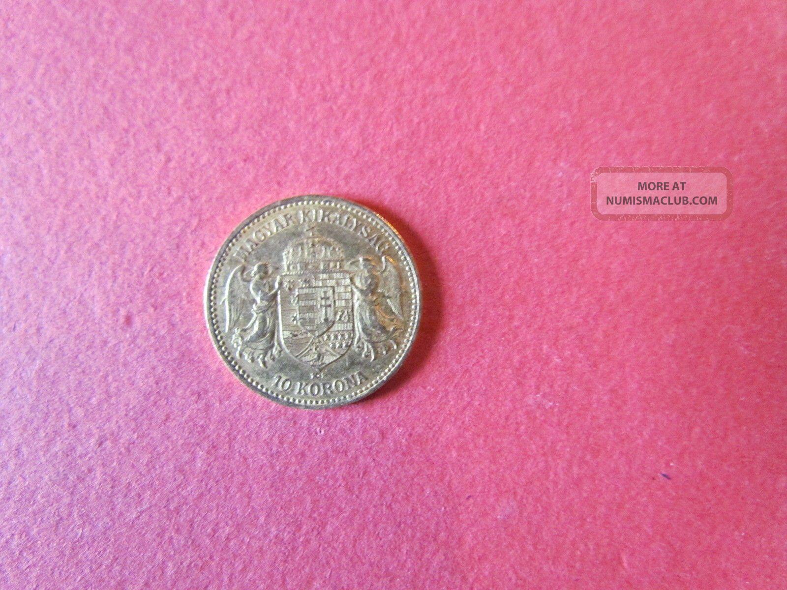 Hungary Gold Coin 10 Korona 1892 Gold Europe photo