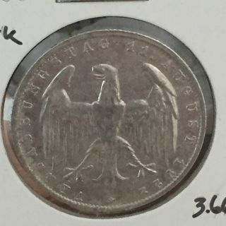 Germany - 3 Mark - Weimar Republic - 1922 - G Great Coin photo