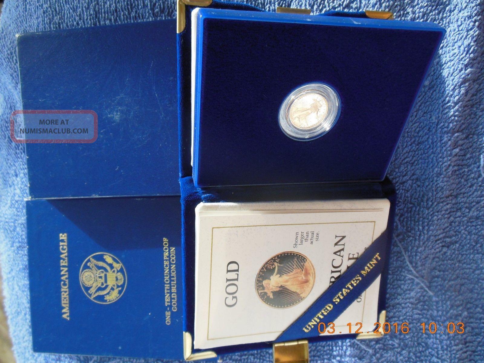Modern Bullion Coins 1990 5 Tenth Ounce Gold Eagle Michael Reagan Ms70 Ngc