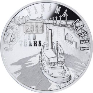 Niue 2014 $1 100th Anniversary Of The Panama Canal 28.  28g Silver Proof Coin photo