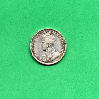 1919 Canadian 25 Cent Quarter Canada Twenty Five Cents Silver photo