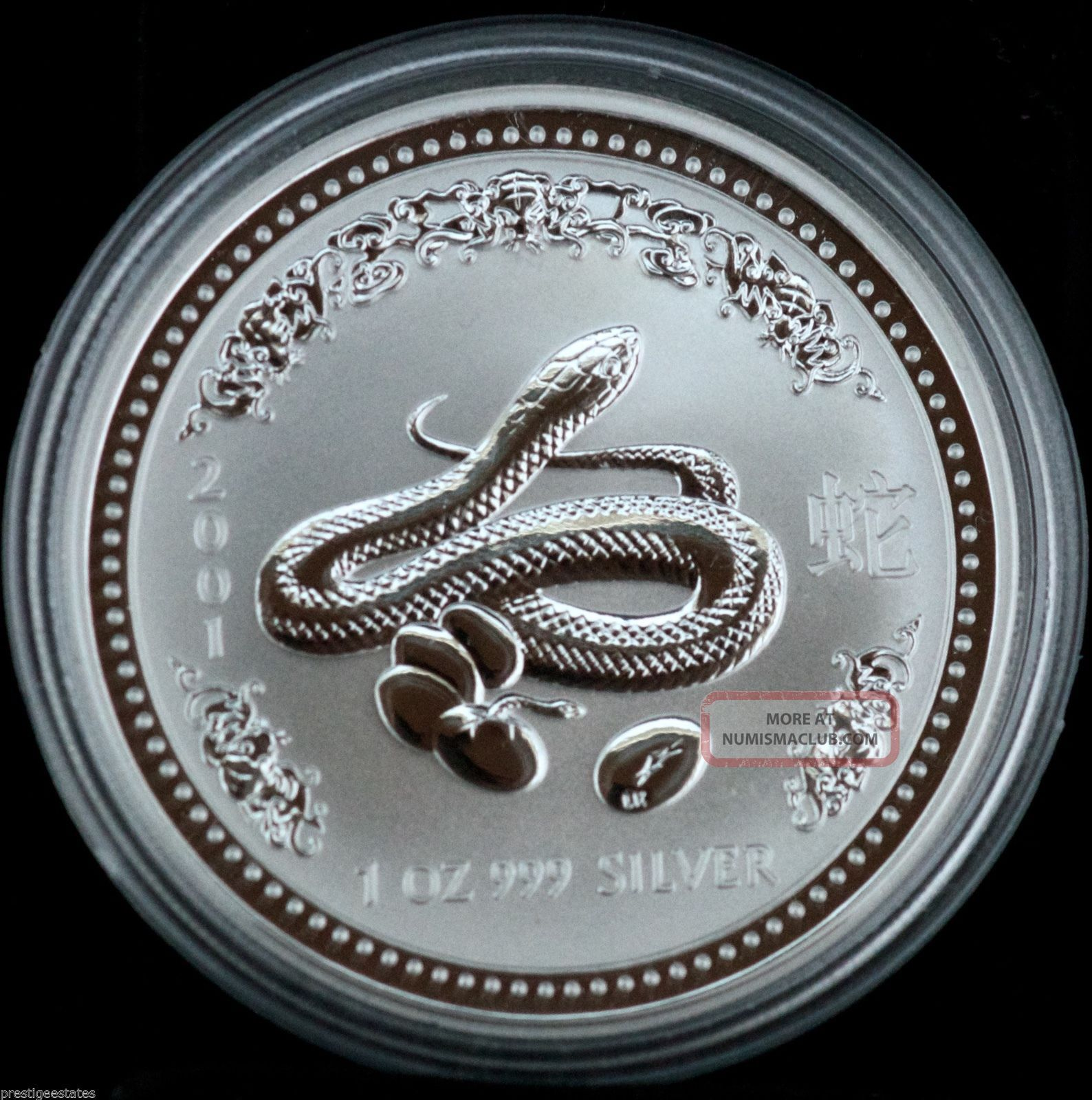 2001 Australia 1 Dollar 999 Silver 1 Oz Chinese Lunar Year