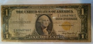 1935a North African Gold Certificate $1 Bill photo