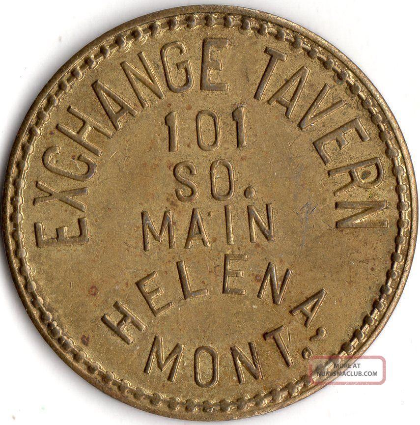 Helena Montana Exchange Tavern Merchant Good For Trade Token Exonumia photo