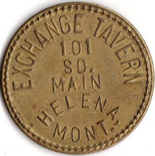 Helena Montana Exchange Tavern Merchant Good For Trade Token photo