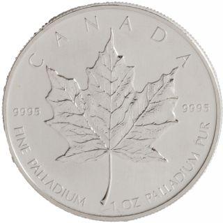 1 Oz Palladium Maple Leaf photo