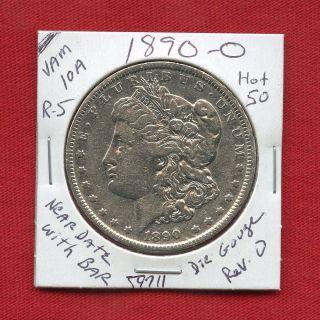 1890 O Vam - 10a Hot 50 R5 Morgan Silver Dollar 59711 Us Rare Key Date Estate photo