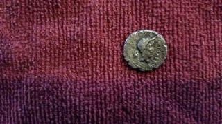 Marc Antony & Julius Caesar Portrait Coin 43 Bc. photo