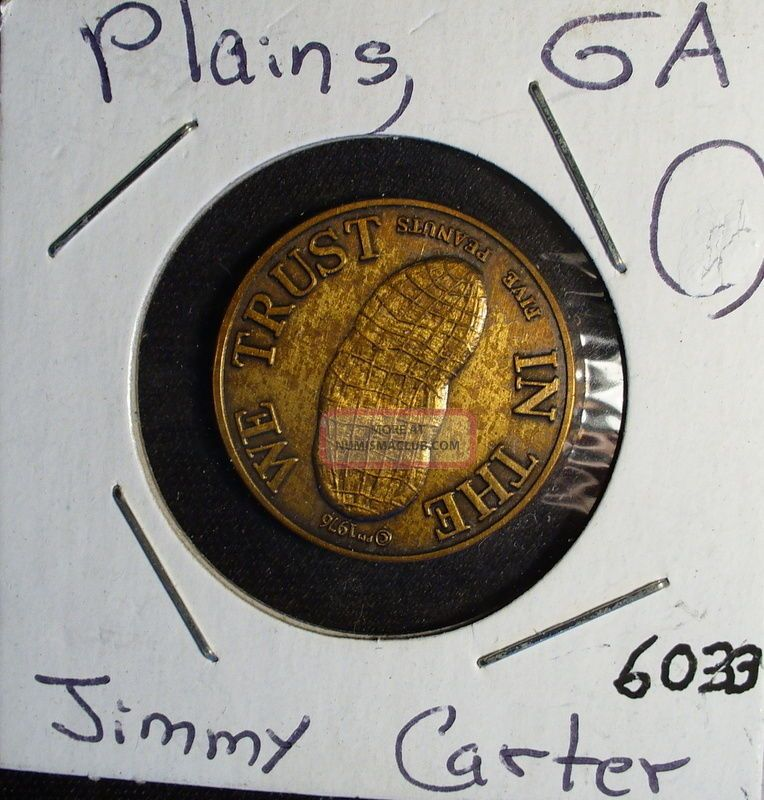 Jimmy Carter Plains Ga Peanut Medal Exonumia photo