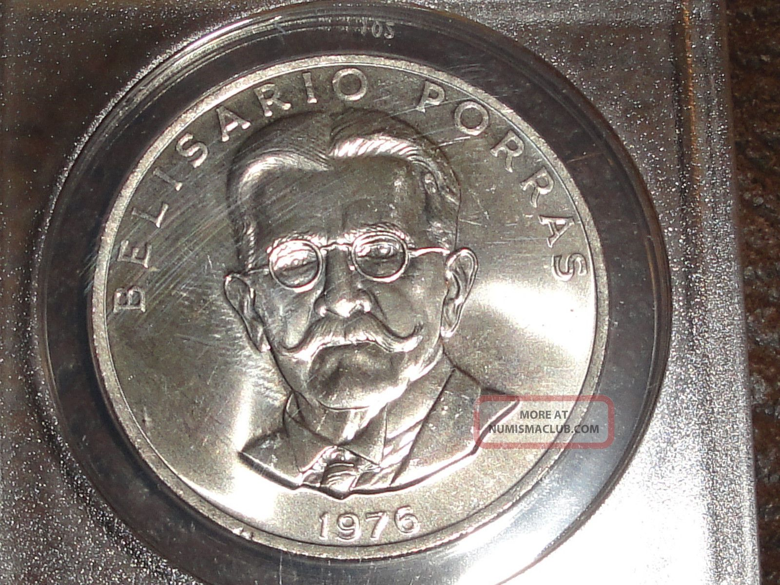 1976 Panama 5 Balboa's - Clad Planchet Struck By Silver Dies Error,  Ms - 65 Coins: World photo
