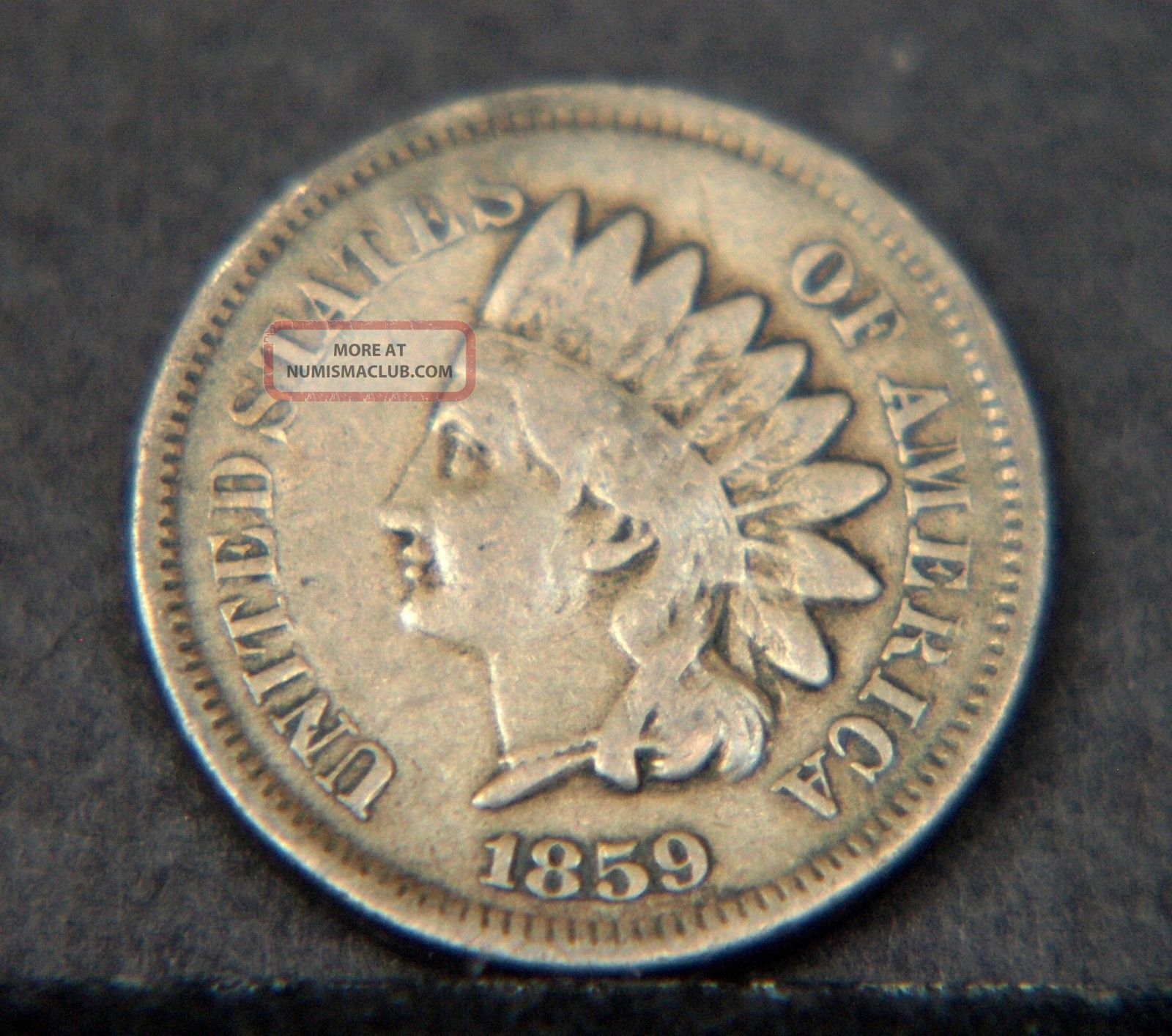 1859 Indian Head Cent Circulated (c2382) Small Cents photo
