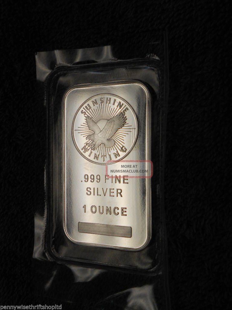 1 Oz Sunshine Silver Bar Mintmark Si Security Feature