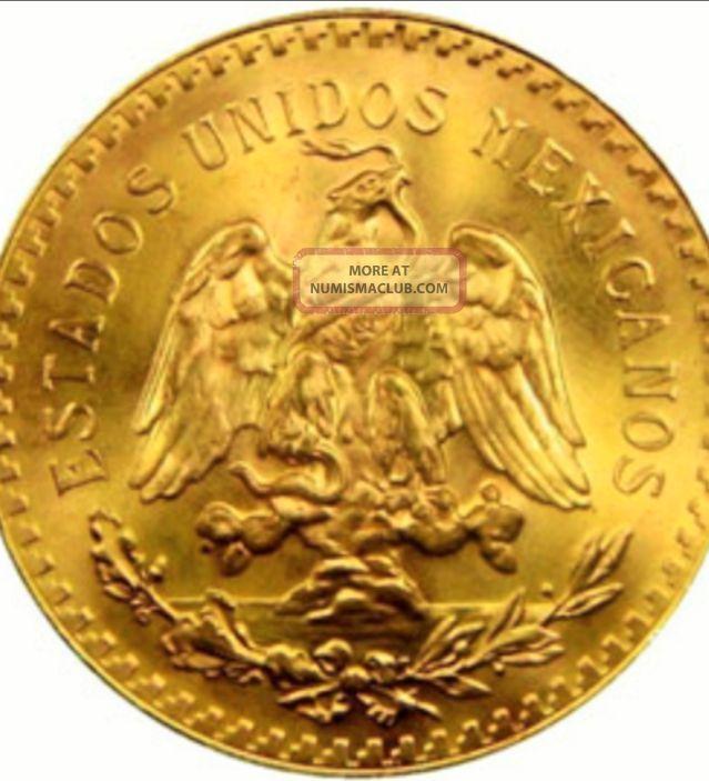 1945 Mexico 2 Peso Gold Coin