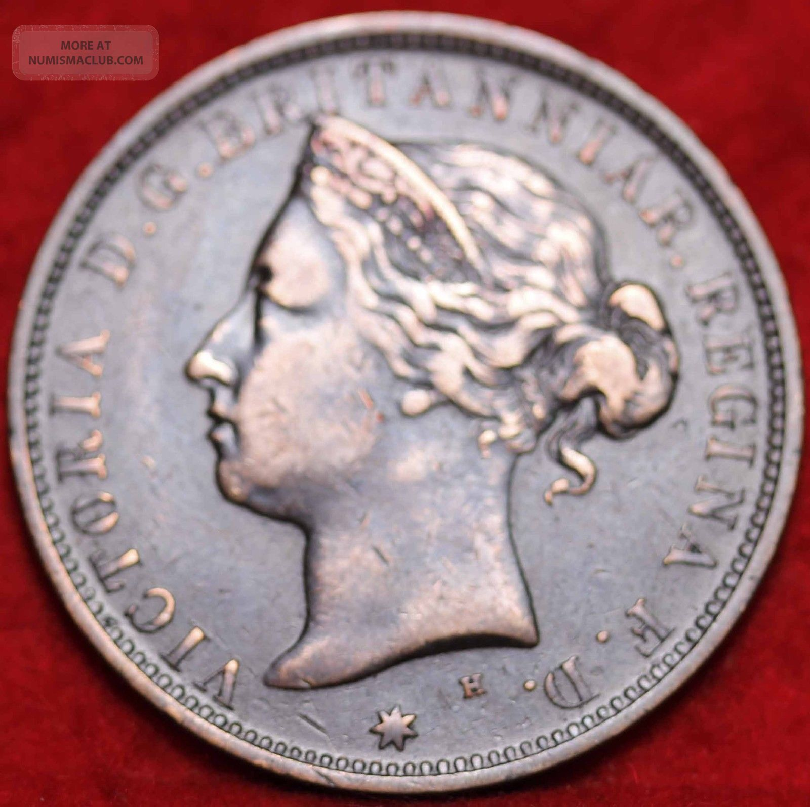 1877 Jersey 1/20 Shilling Foreign Coin S/h Coins: World photo