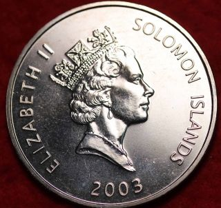 Uncirculated 2003 Solomon Islands $5 Foreign Coin S/h photo