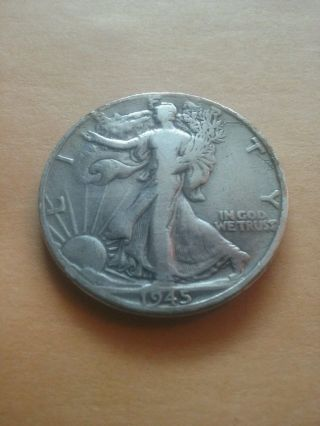 1945 - D 50c Walking Liberty Half Dollar photo