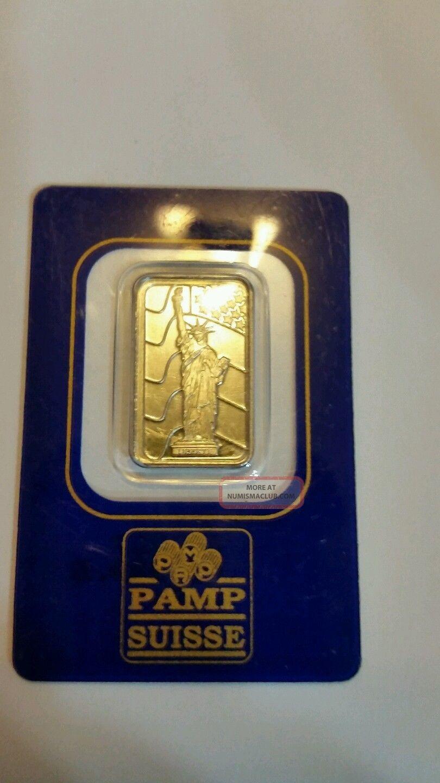 5 Gram Palladium Bar - Pamp Suisse (statue Of Liberty,  In Assay) Bullion photo