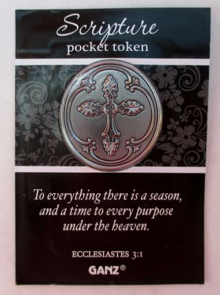 X To Everything There Is A Season Purpose Scripture Pocket Token Charm Cross photo