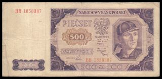 Poland P140 500 Zlotych 1948 Banknote photo