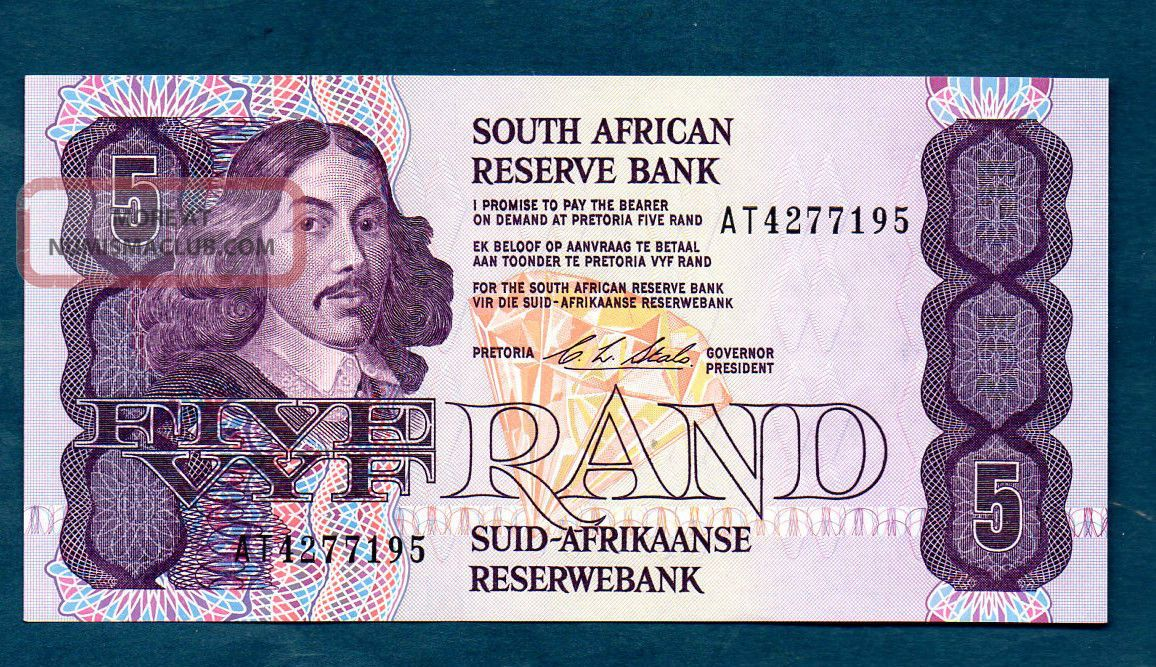 Types of paper money in south africa