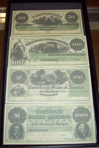 Replica 1861 Confederate Currency From Montgomery Alabama photo