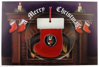 Isle Of Man 50 Pence 2013 Pf = Tradional Christmas= In The Christmas Card photo