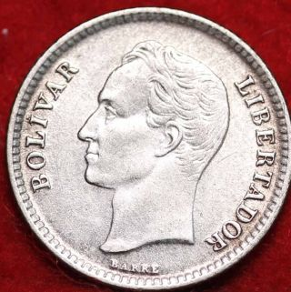 1954 Venezuela 25 Centimos Foreign Coin S/h photo
