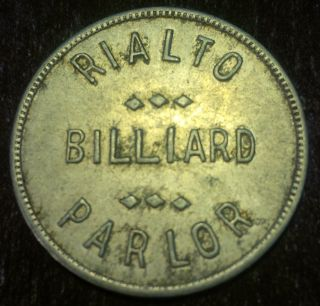 Rialto Billiard Parlor 25 Cent Token photo